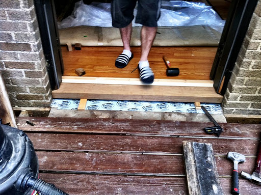 Door Threshold/ Sill Replacement | A Home In College Hill. Door Threshold  Sill Replacement A Home In College Hill