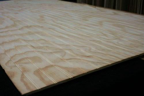 Plywood beadboard