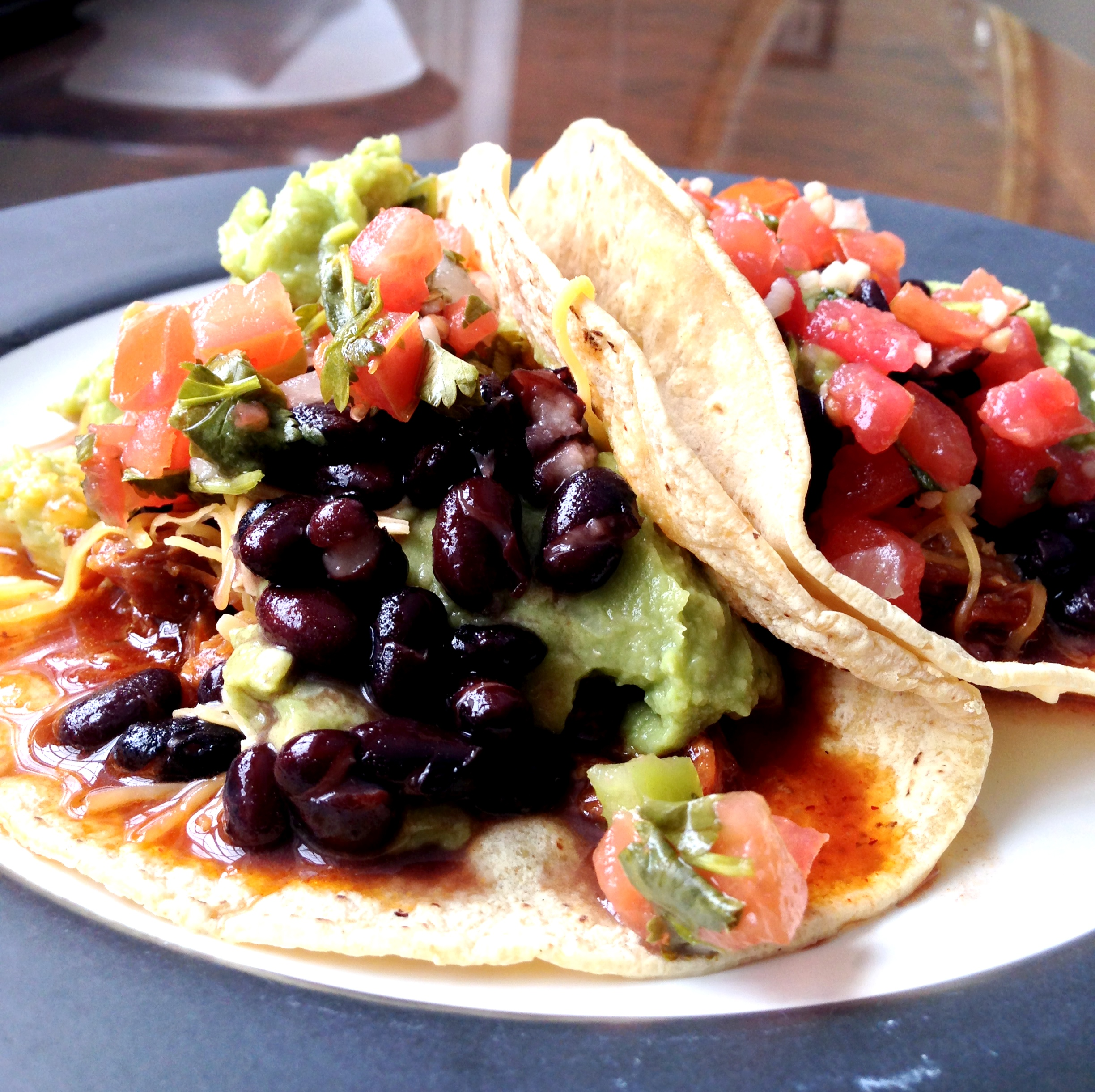 Black Bean and Barbecue Shredded Pork Tacos | A Home In College Hill